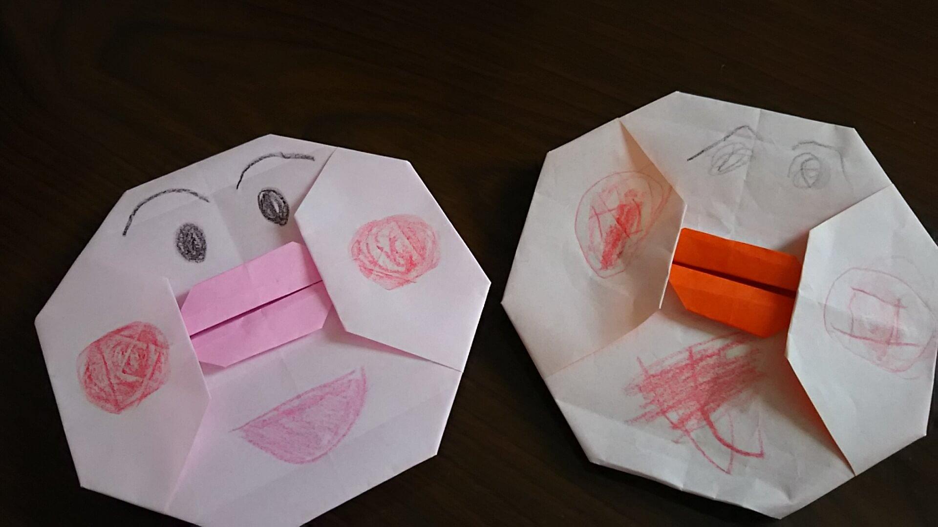 折り紙でアンパンマンの折り方を簡単に!Youtube動画でも解説